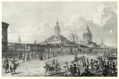 Изображение Александро-Невского монастыря в конце XVIII века