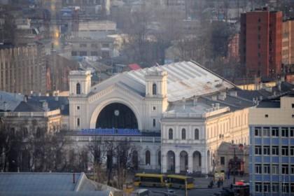 Вид на Балтийский вокзал в СПб сверху