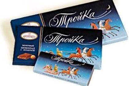 Шоколад «Тройка» фабрики имени Крупской в СПб