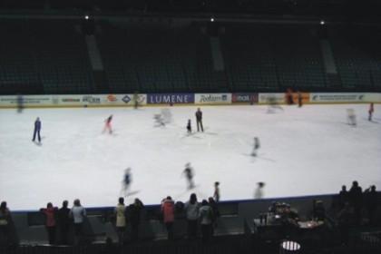 Массовые катание на катке Ледовой арены в СПб