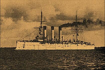 Крейсер «Аврора» на сдаточных испытаниях главных механизмов, 14 июня 1903 года