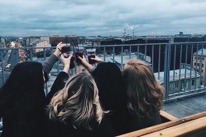 Вид с крыши Лофт проекта ЭТАЖИ в СПб