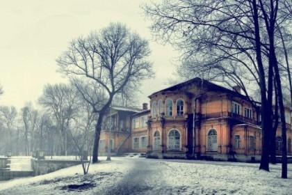 Лопухинский сад зимой в СПб