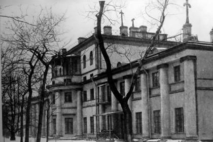 Южный фасад главного корпуса, вид с юго-востока, фото графия 1910-х гг.