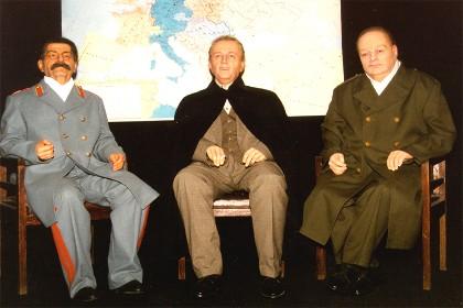 Восковые фигуры Сталины, Рузвельта, Черчилля в СПб