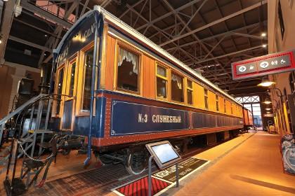 Служебный вагон Китайской Восточной железной дороги, в музее железных дорог России