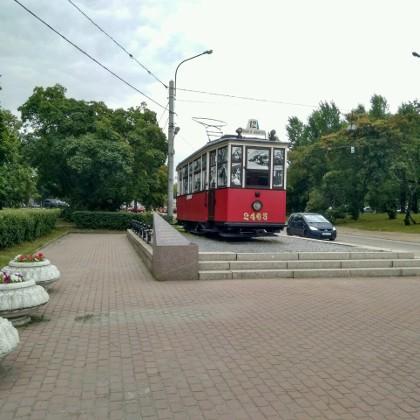 Памятник блокадному трамваю в СПб