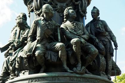 Постамент памятника Екатерине Второй в СПб