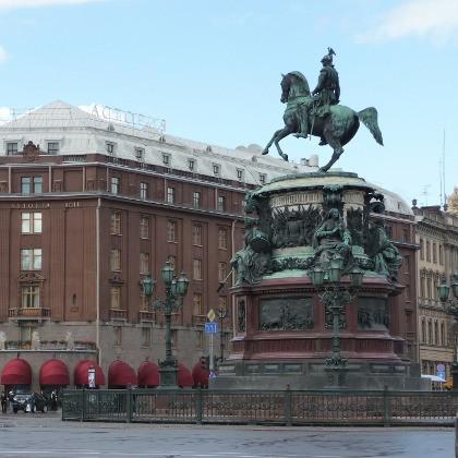 Памятник Николаю I на Исаакиевской площади в СПб