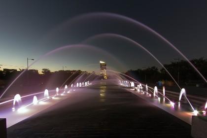 Парк 300-летия Петербурга в вечернее время