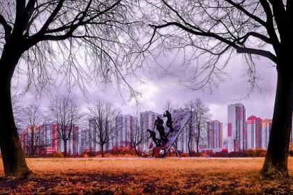 Вид на парк Интернационалистов в СПб