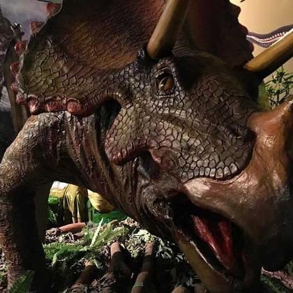 """Фигура трицератопса в """"Планете динозавров"""""""