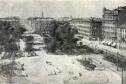 Площадь Тургенева в Советские годы в СПб