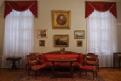 Лермонтовский зал литературного музея пушкинского дома в СПб