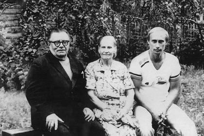 В.В, Путин с родителями