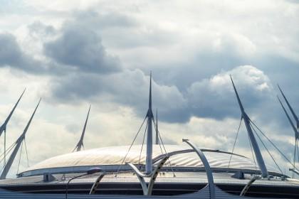 Раздвижной купол арены Санкт-Петербург