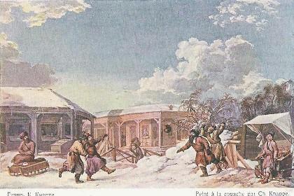 Старый Сытный рынок. Рисунок 1801 года.