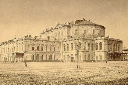 Историческая фотография Театральной площади в СПб