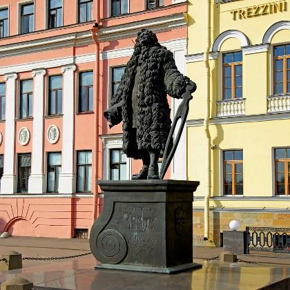 Памятник Трезини в СПб