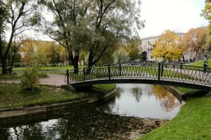 Осенний Юсуповский сад в СПб